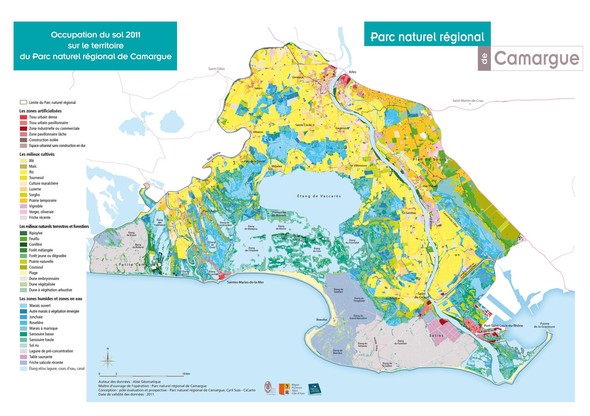 carte de la camargue Des cartes de la Camargue, delta du Rhône, et du parc naturel